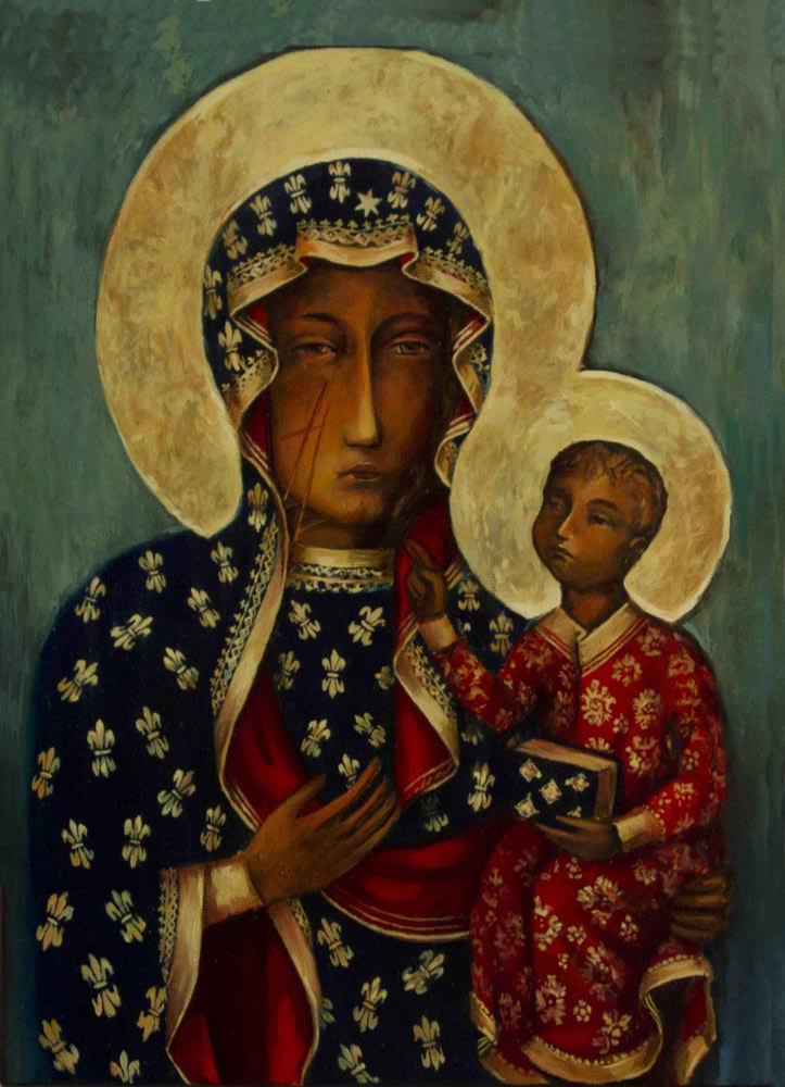 Quadro su tela pittorica Madonna di Czestochowa
