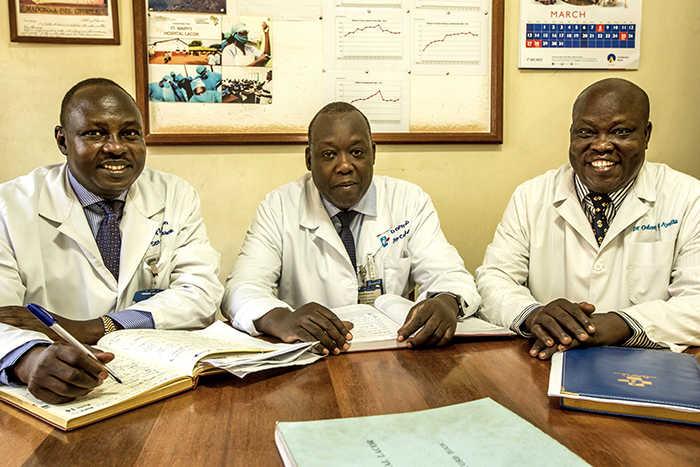 I tre direttori del Lacor Hospital
