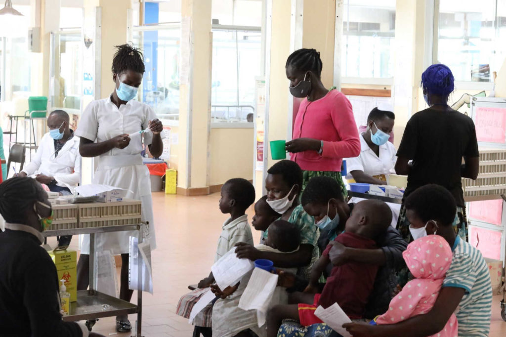 Pazienti del Lacor Hospital in tempi di Coronavirus