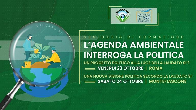 Seminario di formazione organizzato da Greenaccord, in programma a Roma il 23 e 24 ottobre