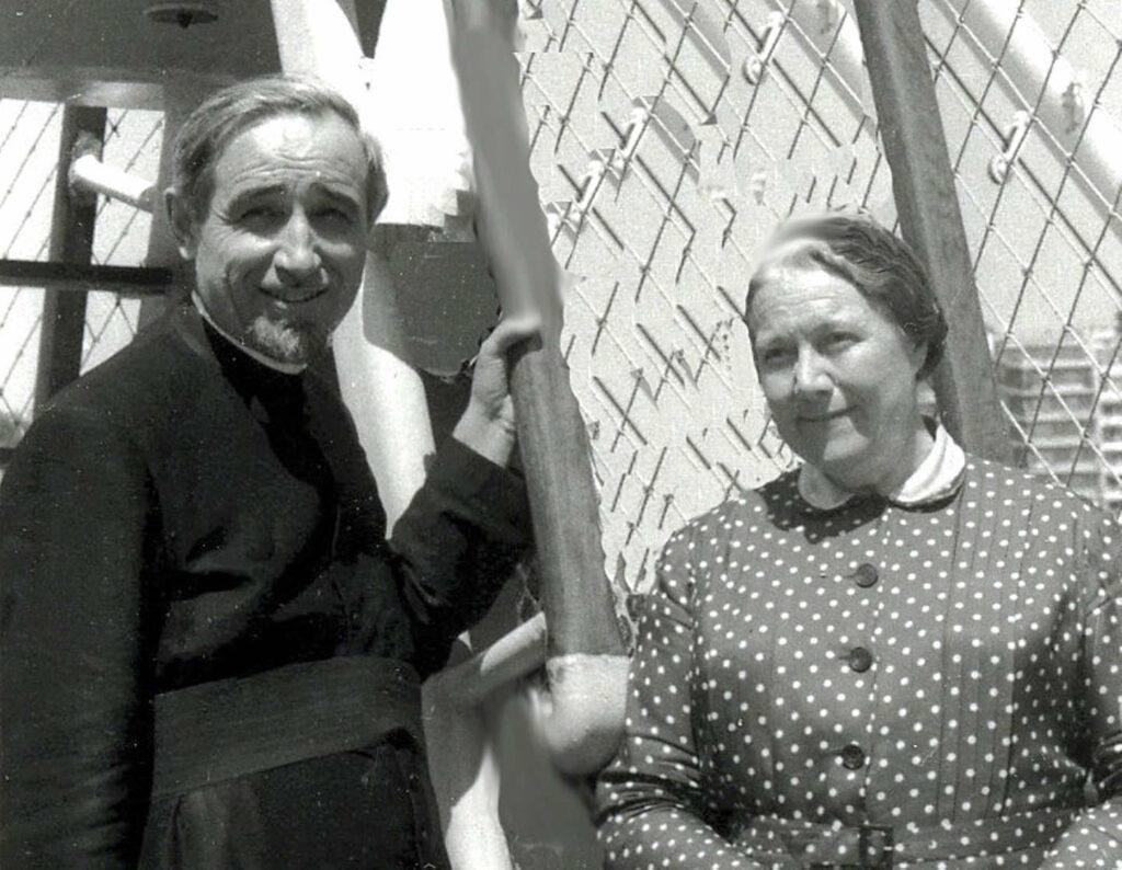 Padre Giacomo Spagnolo e madre Celestina Bottego (Genova 30/07/1961)