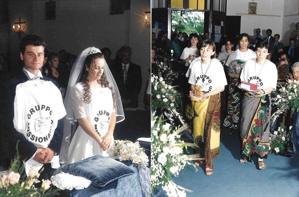 foto di un matrimonio missionario a Roma