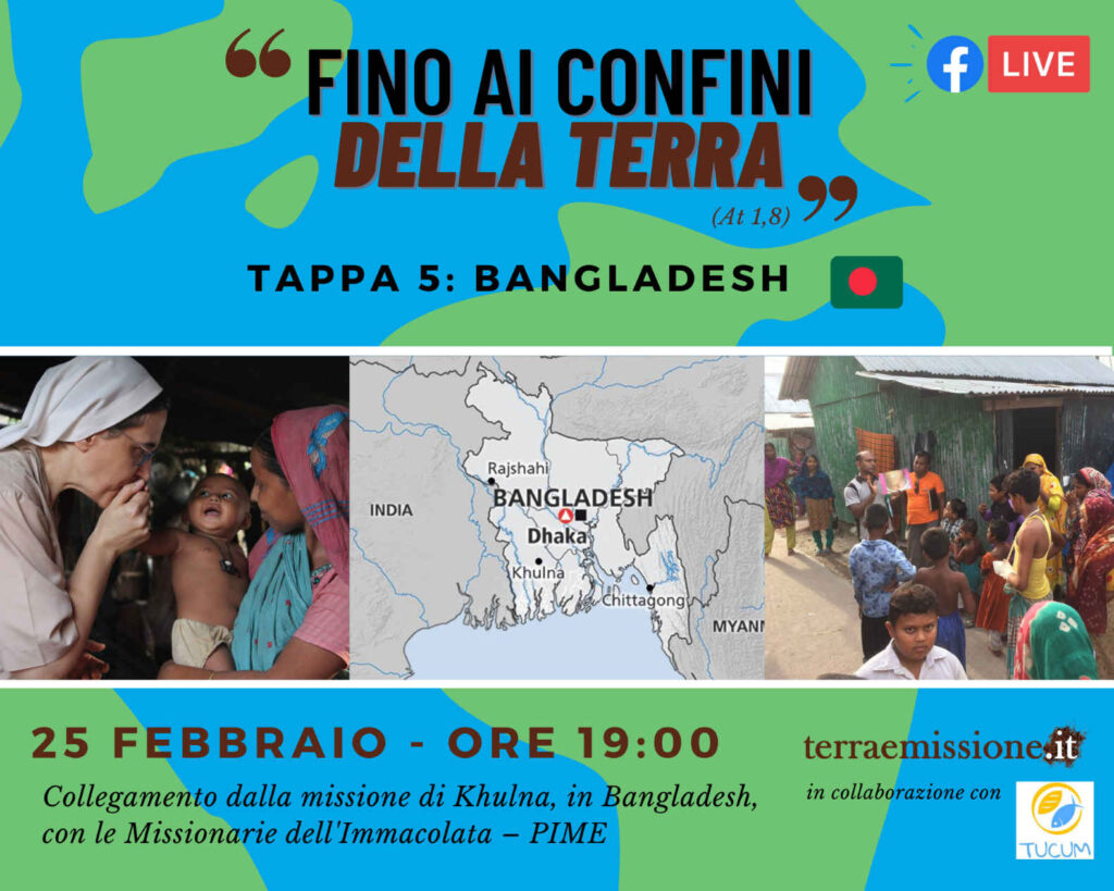 Rubrica missionarie del Pime in Bangladesh locandina