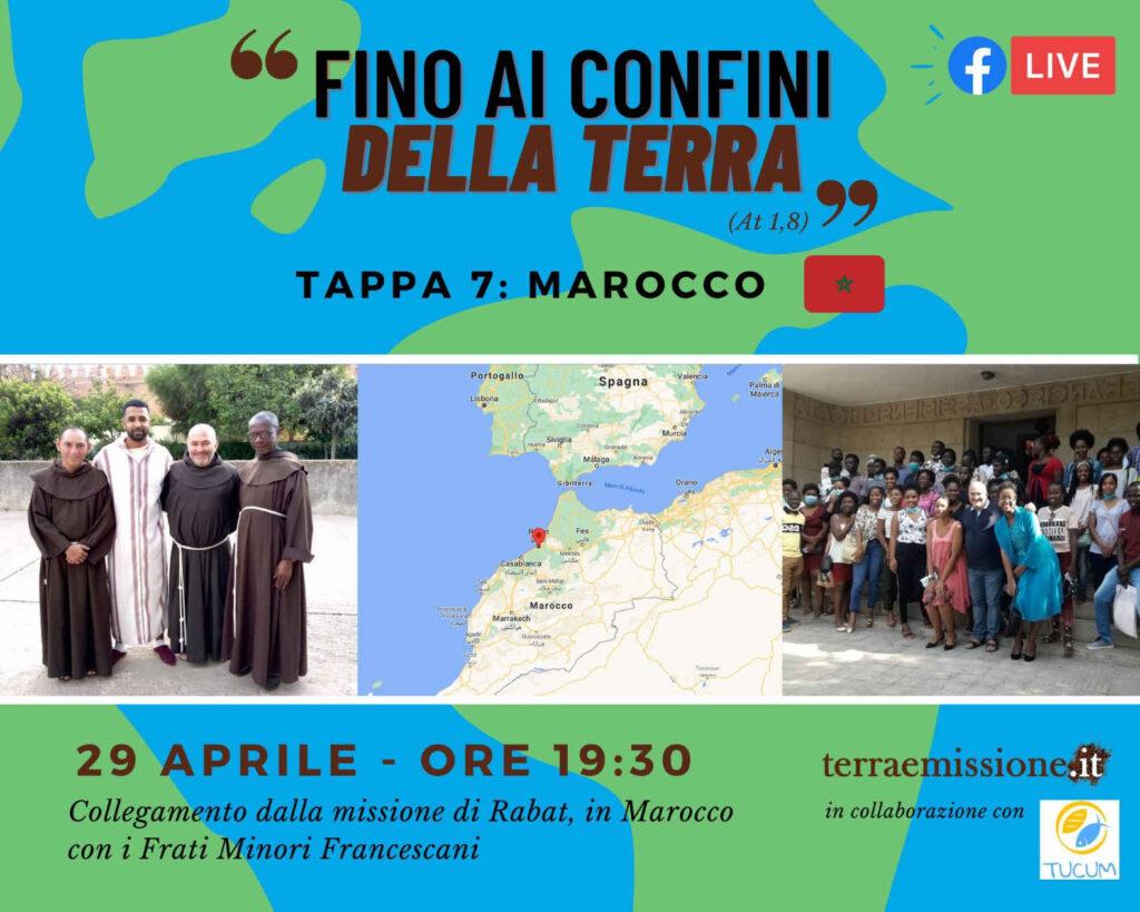 Copertina evento del viaggio missionario in Marocco con i Frati Minori