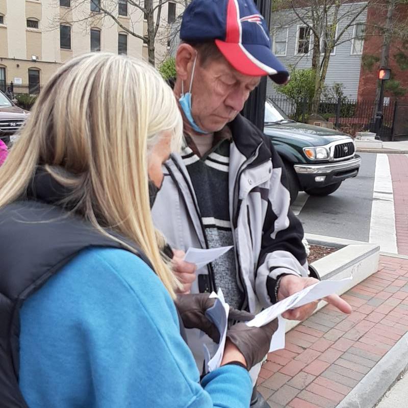 volontariato con i senzatetto a Boston